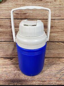 Coleman Blue White Thermos Beverage Cooler 1.5 Liter Flip Spout Handle 5542 USA