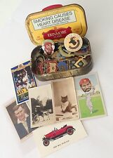 Erinmore Flake Tobacco Tin Cigarette Cards African Lawn Bowls Badge Lot (B65)