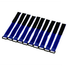 10Pc 26*2cm Fastener Tie Down Strap For LiPo Battery RC helicopter Cable PC Blue