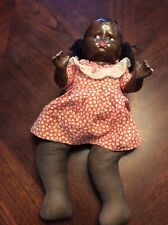 1927 Effanbee Grumpy African American Black Baby Doll Sawdust Body And Legs 12""