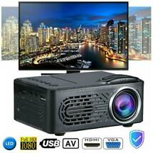 Full HD 1080p LED Portable Projector Video Movie Multimedia Home Theater Cinema!