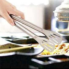 STAINLESS STEEL SALAD TONGS BBQ Kitchen Cooking Food Serving Utensil Tool - CB