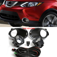 2017-2019 For Nissan Rogue Sport Fog Light Lamp w/Bulb+Switch+Harness+Bezel/1set