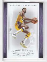 2014-15 Magic Johnson #/99 Panini National Treasures Lakers