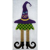 Needlepoint HandPainted JP Needlepoint HALLOWEEN Wicked Witch 7x12