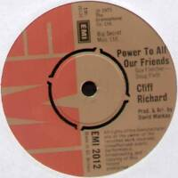 """CLIFF RICHARD~POWER TO ALL OUR FRIENDS / COME BACK BILLIE JO~1973 UK 7"""" SINGLE"""