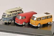 VOLKSWAGEN T2 3 Camper / Bus / Van Set 1/76 scale model by Oxford Diecast