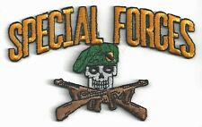 SPECIAL FORCES - SKULL w/GUNS CROSSED - IRON or SEW-ON PATCH