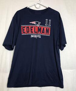 NFL Team Apparel #11 Edelman Patriots Jersey Short Sleeve Mens XL