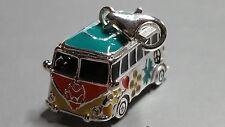 3D VW Bus Bulli Anhänger Einhänger 925er Silber Charms Hippie Retro NEU