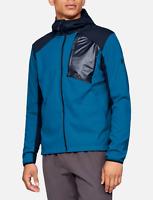 NWT Under Armour Storm Treyk Ski Snowboard Jacket Men's BLUE hoodie Coat LARGE