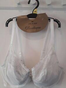 New Size 36D Ladies White Non Padded Underwire Bra