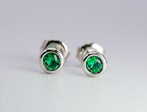 Tiffany & Co. Sterling Silver Elsa Peretti Color By The Yard Tsavorite Earrings