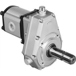 Tractor Hydraulic Fluid PTO Pump Gearbox Assembly 540RPM 25 cc 53 L/min w/ Tube