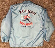 Vintage Zuhrah Shriners Mobil Nobles Windbreaker Jacket Coat Minneapolis MN