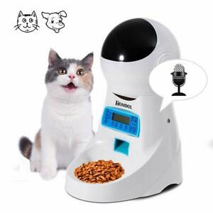 Homdox Automatic Pet Feeder Food Dispenser 4 Meal 4 Cat or Dog Programmable NEW