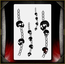 """Skull Chains 2"" Airbrush Stencil Template Airsick"