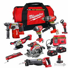 MILWAUKEE 18V FUEL BRUSHLESS 8 PCE KIT NEXT GENERATION GEN II AUS STOCK 5.0AH