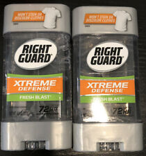 2 Pack Right Guard Xtreme Defense  Fresh Blast Gel Antiperspirant & Deodorant
