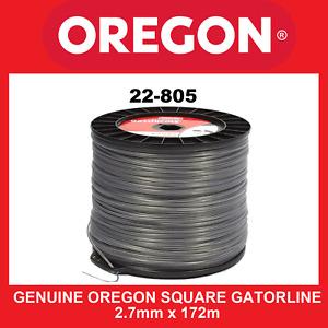 Trimmer Line Genuine Oregon Square Gatorline - 2.7mm X 172m FREE SHIPPING