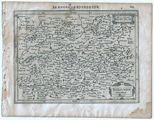 Carte ancienne MERCATOR HONDIUS map 1630 DUCHÉ DE BOURGOGNE Autun Vézelay 247