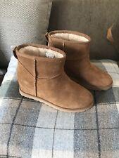 BNWT UGG femme Chestnut Kristin Pure Treadlite Wedge Boot Taille UK 6 RRP £ 160