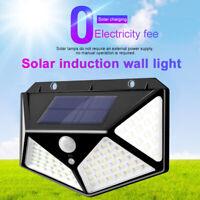 100 LED Solar Power PIR Motion Sensor Wall Lights Outdoor Garden Lamp Waterproof