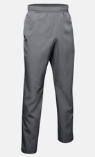 Under Armour Mens sz 2XL Gray Vital Warm-Up Pants Ripstop Ankle Zip Mesh Lined