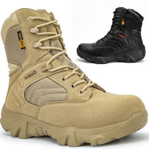 Mens Desert Army Combat Patrol Tactical Boots Shoes Military Work Jungle Suede