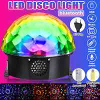 220V LED Stage Light RGB Rotating Strobe Lamp Disco Party Effect Sound Magi