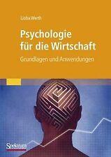 Psychologie für die Wirtschaft: Grundlagen und Anwendung... | Buch | Zustand gut