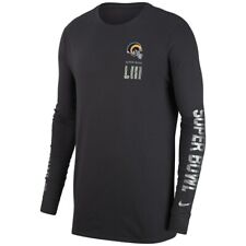 4c9ecb372bf Los Angeles Rams Nike Dri-Fit Super Bowl LIII Media Night Long Sleeve Tee XL