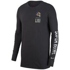 Los Angeles Rams Nike Dri-Fit Super Bowl LIII Media Night Long Sleeve Tee Sz e07b12567