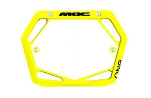 Mac One Bmx Number Plate Mini/Cruiser Yellow