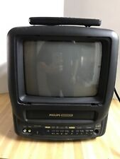 """PHILLIPS Magnavox 9"""" TV VCR Combo Television CCA092AT02 wired for car and home"""