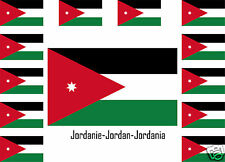 Assortiment de 25 autocollants Vinyle stickers drapeau Jordanie-Jordan-Jordania