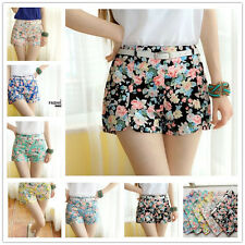 , Machine Washable Mini Floral Shorts for Women