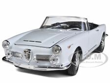 1960 ALFA ROMEO SPIDER 2600 CONVERTIBLE WHITE 1/24 DIECAST MODEL WELLY 24003CW