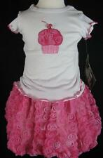 NWT Cachcach Toddler Girls Pink Cupcake Bubble Skirt Tee Outfit 24 Months 2T
