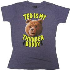 Authentic TED The Movie Thunder Buddy Girl Juniors Tee T-Shirt L NEW