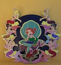 Disney Little Mermaid Ariel Sisters Jumbo Stained Glass Fantasy LE 50 Pin