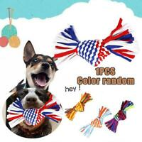 Triangle Knot Cotton Rope Braided Puppy Teeth Chew Training Toys Pet Supplies