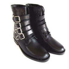 J-1772279 New Saint Laurent Bowling Ankle Buckle Boots Shoes US 6.5 Marked 36.5
