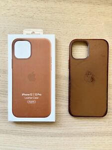 USED Apple MHKF3ZM/A Case for Apple iPhone 12/12 Pro - Saddle Brown Leather
