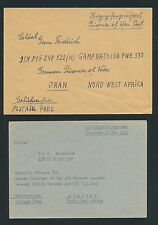 K530) prigionieri di guerra posta BRF Africa 2 lettere in Algeria > leggere