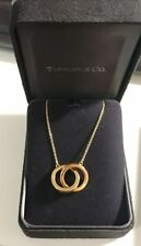 Tiffany 1837 interlocking circles pendant necklace 18k gold