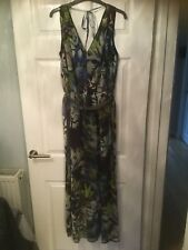 Next Signature Full Length Floral Sleeveless Dress Size 12 Worn Once.