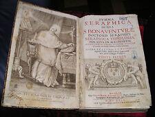 SAINT BONAVENTURE - SUMMA SERAPHICA IN QUA SAINT BONAVENTURAE-LIVRE ANCIEN XVIIè