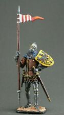 Painted tin toy soldiers figures 54 mm. Bohemian Knight, 2nd floor. 14th century