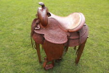 Saddle Rare Antique Western Natural Leather  Beautiful